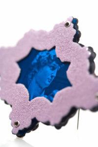 Blue David detail.