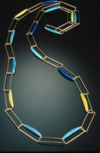 Blue + Gold Neckpiece