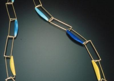 Blue + Gold Neckpiece