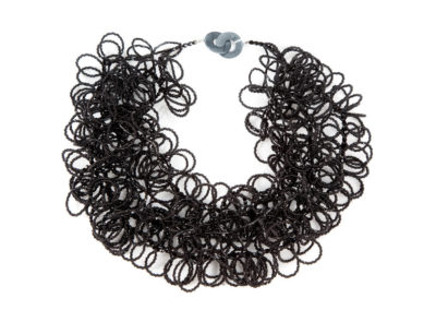 Fluffy Black Neckpiece
