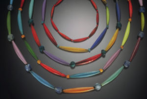 Assortment of Enameled Tube Necklaces
