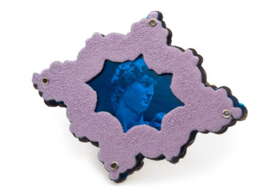 Blue David Brooch