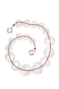 clear murano necklace